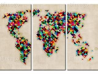 Carte du monde par bimago.fr Éclectique