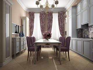Дизайн проект квартиры в стиле эклектика Кухни в эклектичном стиле от Альбина Романова Эклектичный