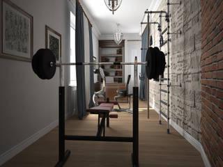 Дизайн проект квартиры в стиле эклектика Тренажерный зал в эклектичном стиле от Альбина Романова Эклектичный