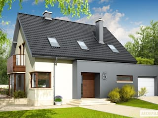 Projekt domu Mati G1 : styl , w kategorii Domy zaprojektowany przez Pracownia Projektowa ARCHIPELAG,Nowoczesny