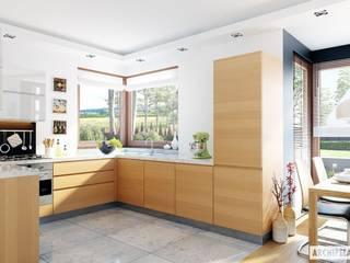 Projekt domu Mati G1 Nowoczesna kuchnia od Pracownia Projektowa ARCHIPELAG Nowoczesny