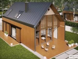 Projekt domu EX 14 : styl , w kategorii Domy zaprojektowany przez Pracownia Projektowa ARCHIPELAG,Nowoczesny