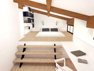 Image 3D du projet - Chambre parentale sous combles: Chambre de style  par Agence Ideco