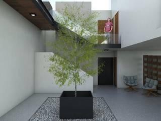 Casa FERRO Pasillos, vestíbulos y escaleras modernos de Taller Habitat Arquitectos Moderno