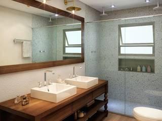Residência Itatiba : Banheiros  por SESSO & DALANEZI