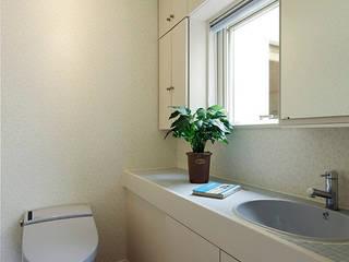 Mediterranean style bathrooms by 有限会社タクト設計事務所 Mediterranean