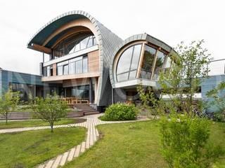 NEWOOD - Современные деревянные дома Finestre & Porte in stile eclettico
