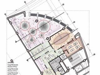 Plan de la lumière et du faux plafond: Bureaux de style  par Marie GHAMARYARI