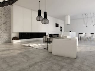 Salas de estar minimalistas por FOORMA Pracownia Architektury Wnętrz Minimalista
