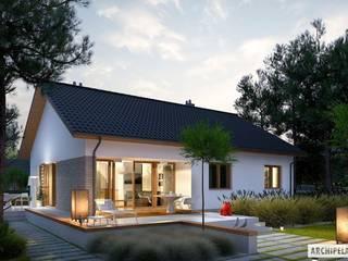 Projekt domu Swen II Nowoczesne domy od Pracownia Projektowa ARCHIPELAG Nowoczesny