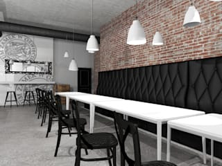 Espaços gastronômicos rústicos por FOORMA Pracownia Architektury Wnętrz Rústico