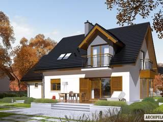 Projekt domu Marisa V G1 ENERGO : styl , w kategorii Domy zaprojektowany przez Pracownia Projektowa ARCHIPELAG,Nowoczesny