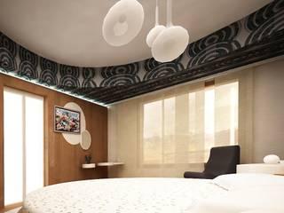 Villa teknogrup design Kamar Tidur Minimalis