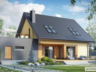 Projekt domu Marcin II G2 Nowoczesne domy od Pracownia Projektowa ARCHIPELAG Nowoczesny