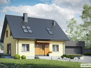 Projekt domu Marcin II G2: styl , w kategorii Domy zaprojektowany przez Pracownia Projektowa ARCHIPELAG,Nowoczesny