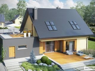 Projekt domu Marcin II G2: styl , w kategorii Garaż zaprojektowany przez Pracownia Projektowa ARCHIPELAG,Nowoczesny