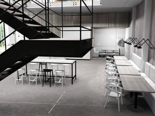 Espaços gastronômicos industriais por FOORMA Pracownia Architektury Wnętrz Industrial