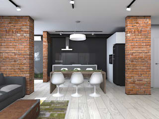 Industrial style dining room by ИНТЕРЬЕР-ПРОЕКТ.РУ Industrial
