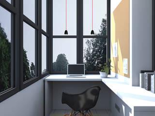 Квартира в стиле лофт: Рабочие кабинеты в . Автор – ИНТЕРЬЕР-ПРОЕКТ.РУ