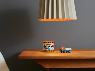 Serpentine & Orange Aurora Twin Tone Lampshade:   by Lane