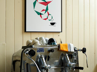 The Unmistakeable Taste of Caffe Lini Print:   by Lane