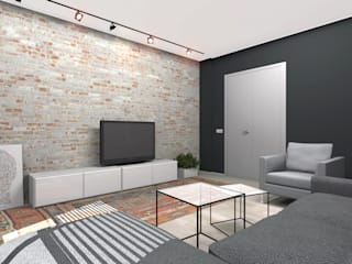 Industrial style living room by ИНТЕРЬЕР-ПРОЕКТ.РУ Industrial