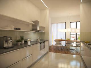 Cocinas de estilo moderno por Pracownie Wnętrz Kodo