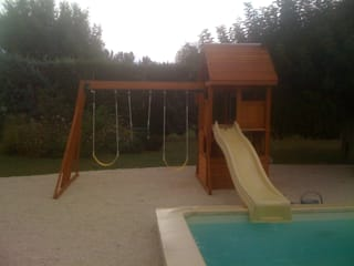 Pool Side Climbing Frame Modern garden by Selwood Products Ltd Modern