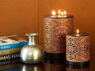 Middle Eastern, Moorish, Asian designer candles:   by Parable Designs Ltd