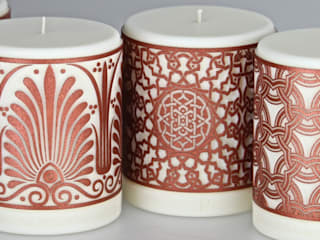 Middle Eastern, Moorish, Asian Rapeseed Wax Candles:   by Parable Designs Ltd