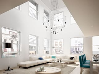 Salones de estilo moderno de studioviro Moderno