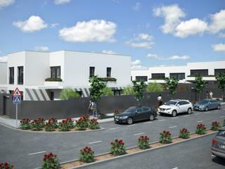 Parcela RU2B AR Nuevo Tres Cantos (Madrid) 12 viviendas unifamiliares Casas de estilo moderno de AURIANOVA ARQUITECTOS Moderno