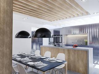 Labahou Une ancienne papeterie reconvertie en loft: Salle à manger de style de style Moderne par Planet Studio