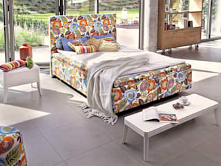Colourful dreams -Duke Flower Power Bed Swarzędz Home Scandinavian style bedroom