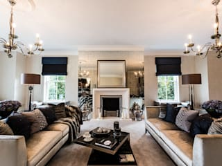 Living Room with Fireplace:  Living room by Luke Cartledge Photography