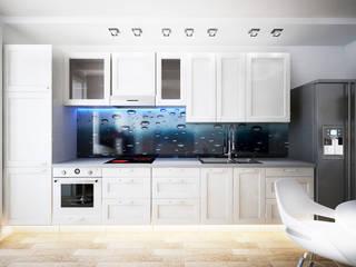 Светлая квартира Кухня в стиле минимализм от AbcDesign Минимализм