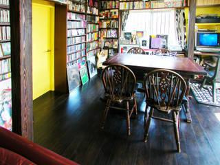 ユミラ建築設計室 Modern living room Wood Brown