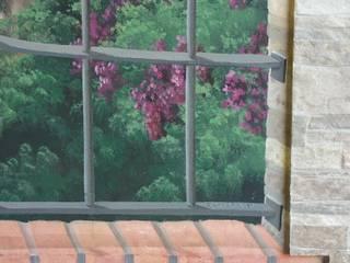finta finestra in Trompel'oeil :  in stile  di cinzia perino art