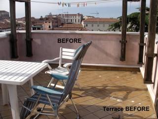 Ristrutturazione di un terrazzo PRIMA/ DOPO di decoratriceweb.com Interior Design 3D ONLINE