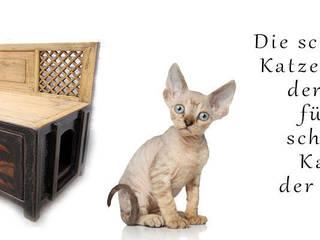 Mit dekorativen Möbeln Ihre Katzentoilette elegant und stilvoll verstecken.:   von Luxury-Park