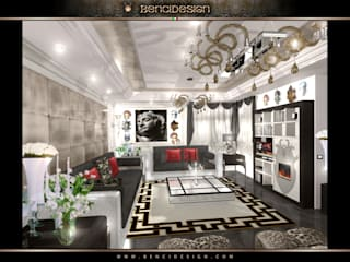 Modern Villa San Pietroburgo Soggiorno eclettico di BenciDesign Eclettico