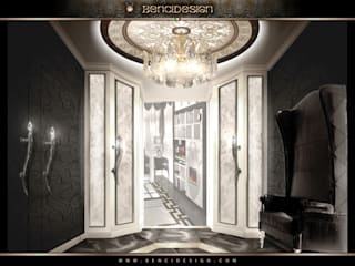 Modern Villa San Pietroburgo Ingresso, Corridoio & Scale in stile eclettico di BenciDesign Eclettico