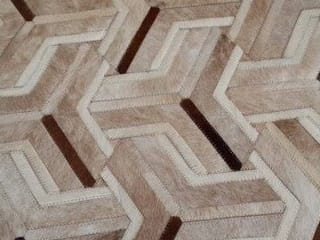 RAW Leather Argentina – Alfombras de Cuero con Pelo – Patchwork – Modelo: Valle Luna:  de estilo  de RAW Leather Argentina
