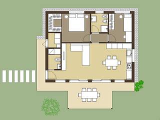TheZeB Easy01: Una casa per le giovani coppie di TheZeB Green Building & Interiors Moderno