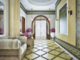 Corridor and hallway by AbcDesign, Asian
