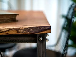 English Oak Slab Table:   by One Off Oak Limited