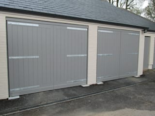 Swing Electric Garage Doors Modern garage/shed by Portcullis Electric Gates Modern