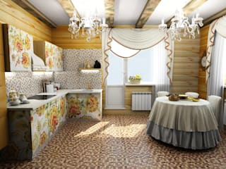 Eclectic style dining room by Гурьянова Наталья Eclectic