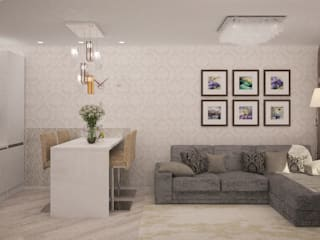现代客厅設計點子、靈感 & 圖片 根據 Гурьянова Наталья 現代風