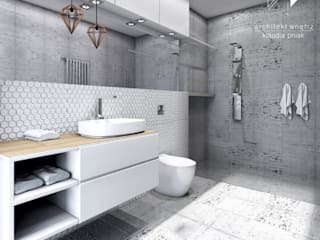 Modern Bathroom by Architekt wnętrz Klaudia Pniak Modern